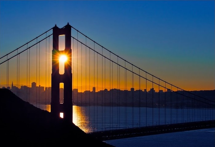 Golden Gate Bridge Sunrise crop